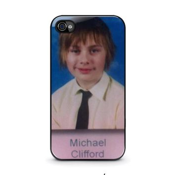 5sos michael clifford iphone 4 4s case cover  number 2