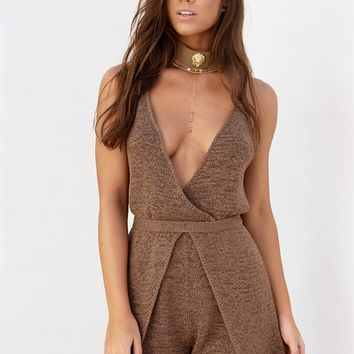 Buy Cocoa Knit Playsuit Online by SABO SKIRT