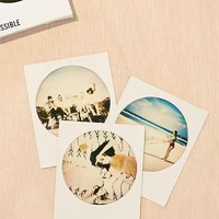 Impossible White Round Color Polaroid 600 Instant Film