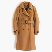 J.Crew Womens Icon Trench Coat In Wool-Cashmere