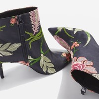 MIMOSA Floral Ankle Boots