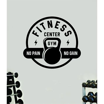 Fitness Center Gym Wall Decal Home Decor Bedroom Room Vinyl Sticker Art Teen Work Out Quote Beast Lift Strong Inspirational Motivational Health School No Pain No Gain