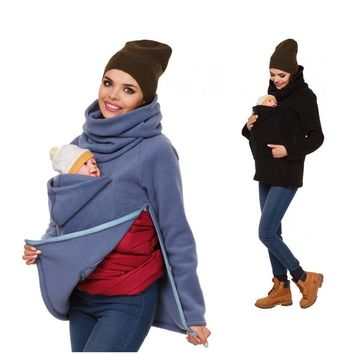 Autumn Winter Maternity Coat Baby Carrier Jacket Kangaroo Maternity Clothing for Pregnant Mom and Baby Carrier Hoodie WY01