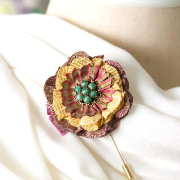 Floral Boutonniere Pin
