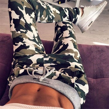 Hot Sale Camouflage Print Casual Pants [4956092676]