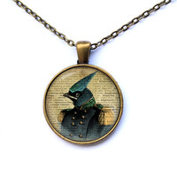 Steampunk pendant Bird jewelry Animal necklace CWAO144-1