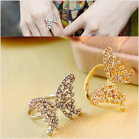 Shiny Gift New Arrival Stylish Jewelry Hollow Out Butterfly Accessory Ring [6586144967]