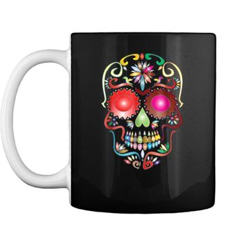 Colorful Sugar Skull  for Mexican Day Of The Dead Mug