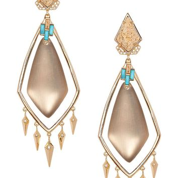 Alexis Bittar Lucite Jasper Spike Clip On Earrings