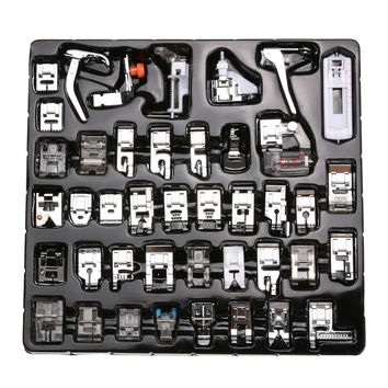 42 PCS Sewing Machine Foot Domestic Sewing Machine Foot Feet Snap On Sewing Tools Accessory For Brother Singer Janom