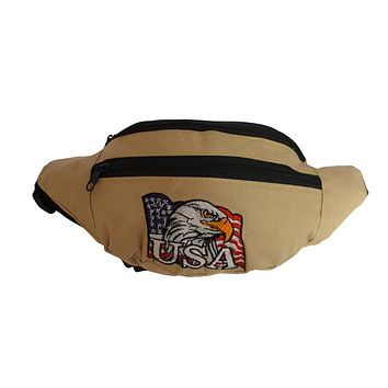 AFONiE Eagle USA Tan Waist Pouch