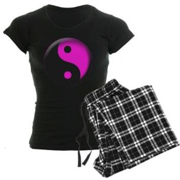 Yin Yang Pink Women's Dark Pajamas - Girl Tease