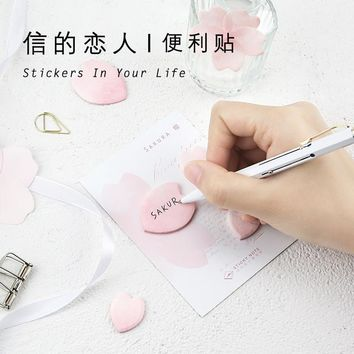 30pages/pc Kawaii Flower&Leaves Memo Pad Sticky Notes Bookmark School Office Supply Note Paper Scrapbooking Sticker