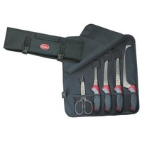Clauss Kitchen Knife and Shear Set With Carrying Case, Contains Six Pieces