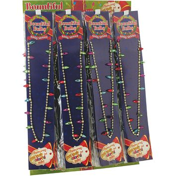 Christmas Bulb Necklace - 72 Units
