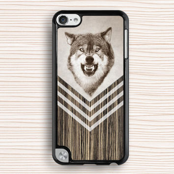 wolf ipod case,men's ipod 5 case,cool wolf ipod 4 case,wood grain chevron ipod 5 touch case,art wolf ipod touch 4 case,personalized touch 4 case,father's gift touch 5 case