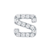 Diamond Initial S Earring - Red C Jewels