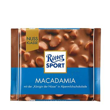 Ritter Sport Milk Chocolate with Macadamias, 3.5 oz (100 g)