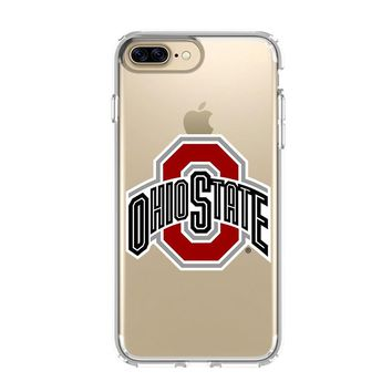 OHIO STATE LOGO iPhone 4/4S 5/5S/SE 5C 6/6S 7 8 Plus X Clear Case