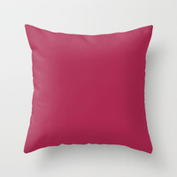 Amaranth Purple Pillow, #AB274F, Solid Purple Throw Pillow, Solid Red Pillow, Dark Red Pillow, Minimalist Decor, Minimalist Pillow