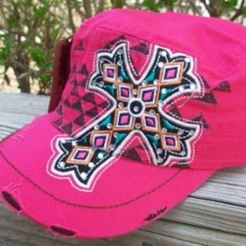 Fuchsia Cross Hat