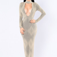 Attention On Me Dress - Gold