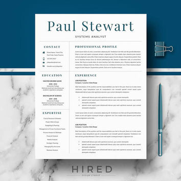 Resume Template for Word | Professional Resume, CV design, Modern Resume + Cover Letter, References, Resume Writing guide | Instant Download