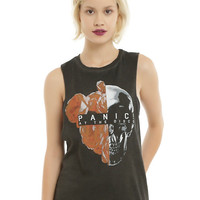 Panic! At The Disco Flower Skull Girls Muscle Top