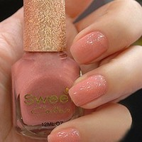 Shinning Light Pink Sweet Color 12ml Nail Polish [587]