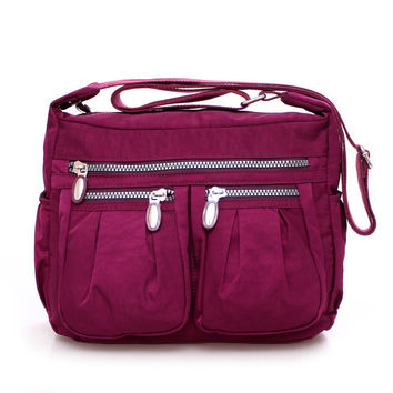 Solid Nylon Handbags For Women