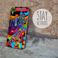 Nike Just Do It Colorfull  Galaxy - iPhone 4/4s/5 Case - Samsung Galaxy S3/S4 Case