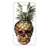 Pineapples Skull Samsung Galaxy S5 Case, Pineapples Samsung Galaxy Case Hard White Plastic Cover Unique (For samsung S5)