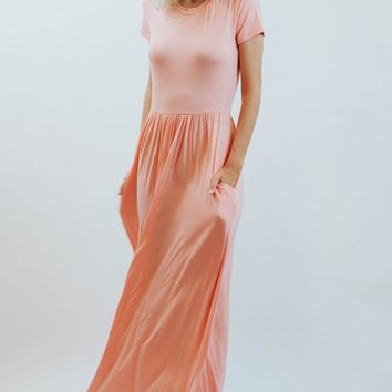 Flushed In Blush Maxi