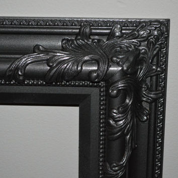 Ornate Picture Frame Metallic Charcoal Grey