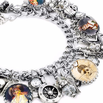 Pirate Jewelry, Pirate Charm Bracelet