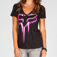 Fox Cinder Womens Tee Black  In Sizes