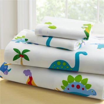 Wildkin 92412 Olive Kids Dinosaur Land Toddler Sheet Set for Boys, Blue