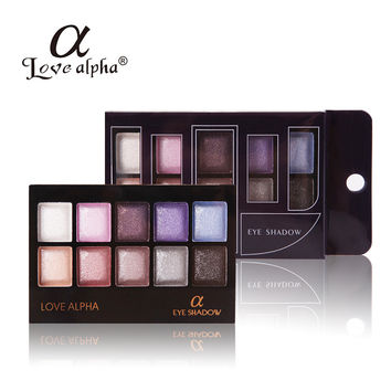 2016 Women Makeup 10 Colors Eyeshadow Palette Shimmer Make Up With Brush!