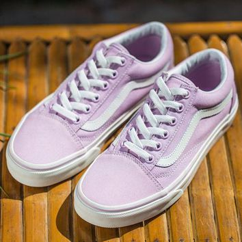 Vans Old Skool Canvas Flat Sneakers Women Sport Shoes
