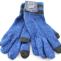 American Eagle TouchPoint Men's Blue/Black Knit Nylon Tech Touch Gloves