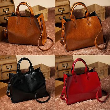 Fashion Women Leather Handbag Messenger Shoulder Bag Satchel