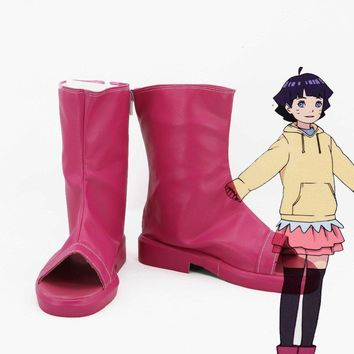 Naruto BORUTO Uzumaki Himawari cosplay shoes Anime boots High quality Custom-made