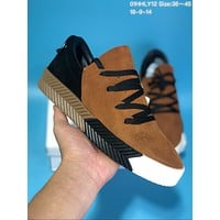 KUYOU   A281 Adidas x Alexander Wang Suede Thick Bottom Plate Shoes Brown