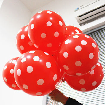 20pc 12 inch Latex Polka Dots Balloons Wedding Birthday Balloons Decoration Globos Party Ballon palloncini anniversaire Kid Toys