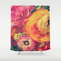 Ranunculus Shower Curtain by DuckyB (Brandi)