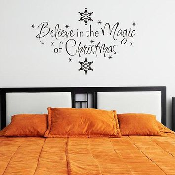 Antibacterial Removeable Christmas Snows Wall Sticker