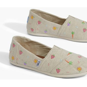 FARMERS MARKET EMBROIDERED WOMEN'S CLASSICS