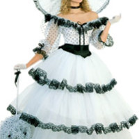 White Southern Belle Costume - Civil War Costumes