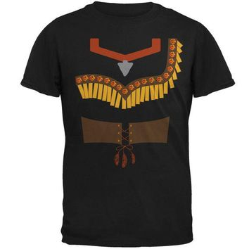 DCCKIS3 Halloween Native American Princess Costume Red Mens T Shirt