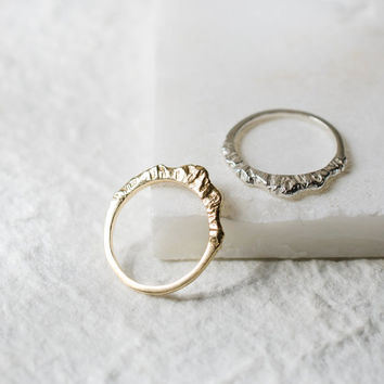 Silver Mountain Ring, Mountain Jewelry, Silver Nature Ring, Inspiration Jewelry, Graduation Ring (Tall Version)